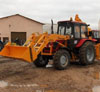 Backhoe loader EP-F-P with a shifting axis of digging